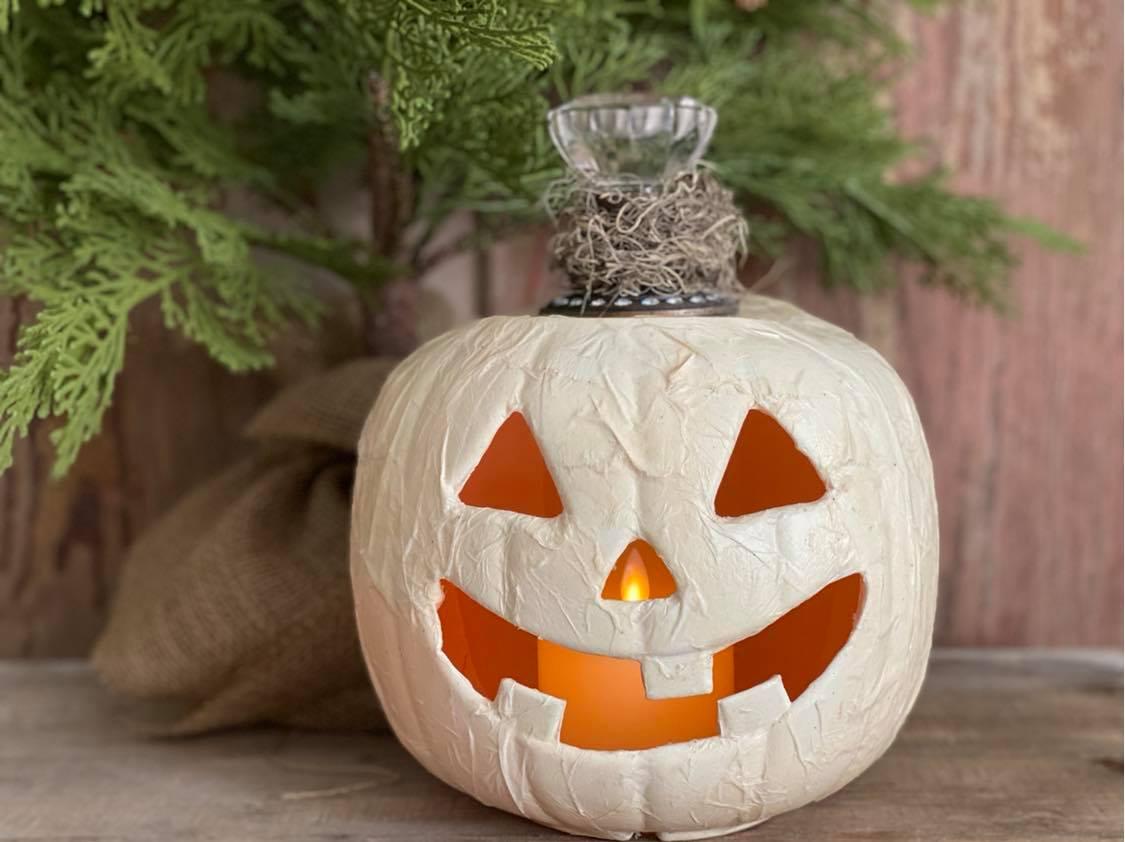 Plastic Pumpkin Makeover The Shabby Tree