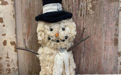 DIY Mop Pad Snowman