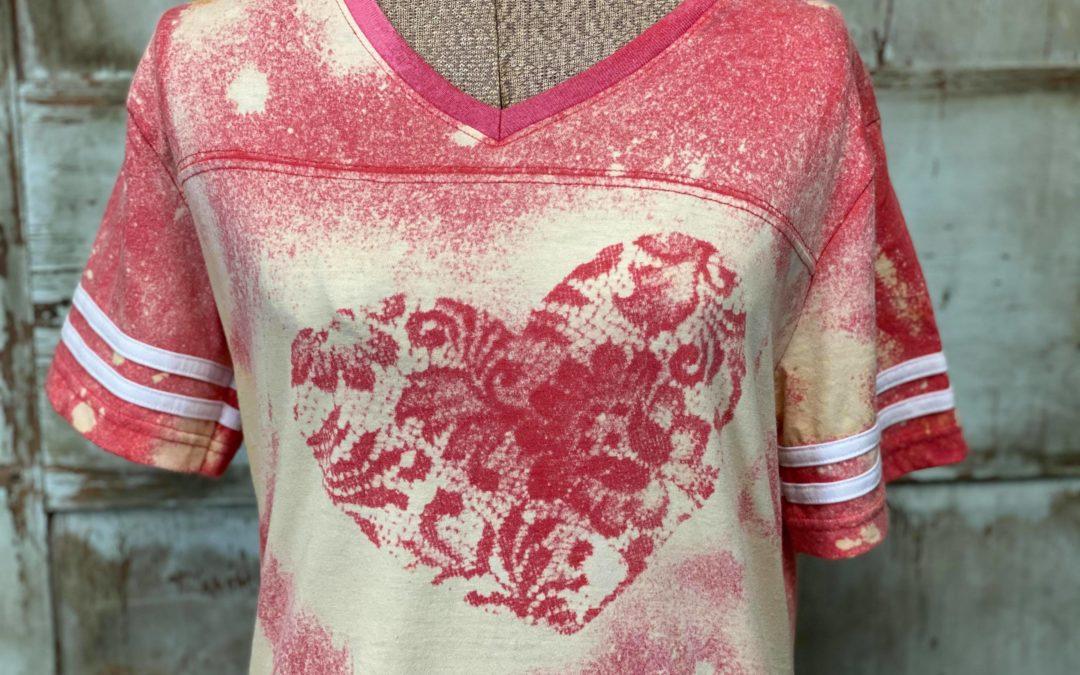 DIY Bleach Printed T-Shirt