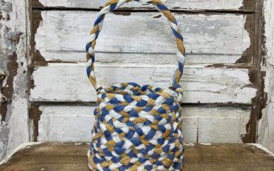 DIY Braided Rag Basket