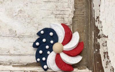 DIY Patriotic Cotton Pinwheel