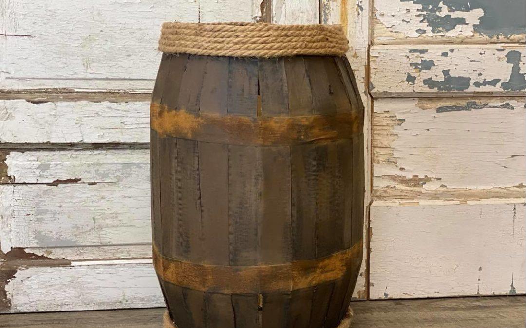 DIY Cardboard Barrel