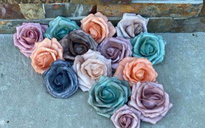 DIY Colored Foam Roses