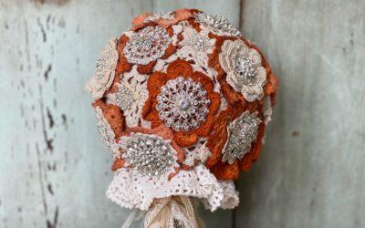 DIY Bling Wedding Bouquet