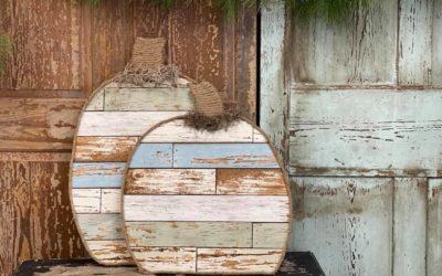 DIY Faux Wood Pumpkin