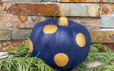 Pumpkin Makeover Using DecoArt Suede